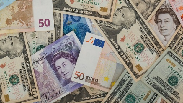 currencies euro dollar pound money cash sterling