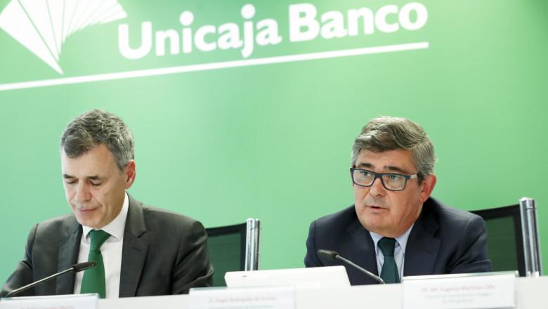 angel rodriguez ceo de unicaja banco pablo gonzlez director finanzas