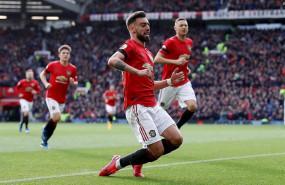 ep bruno fernandes celebra un gol con el manchester united