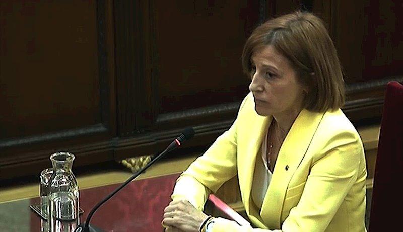 ep la expresidenta del parlament carme forcadell durante el juicio del 1-o