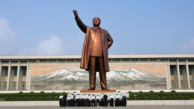 north korea kim jong un statue