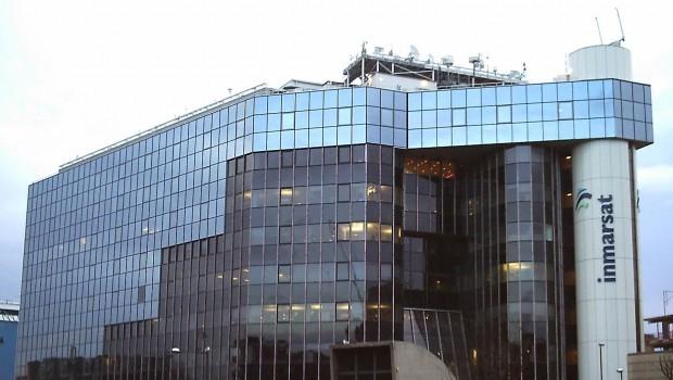 Inmarsat headquarters at Old Street in London, satellites