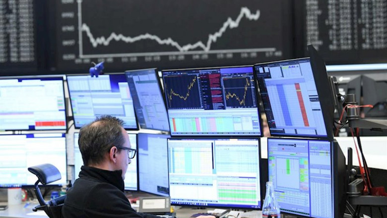 ep main a stock trader sits in front of his monitors in the trading room of the frankfurt stock