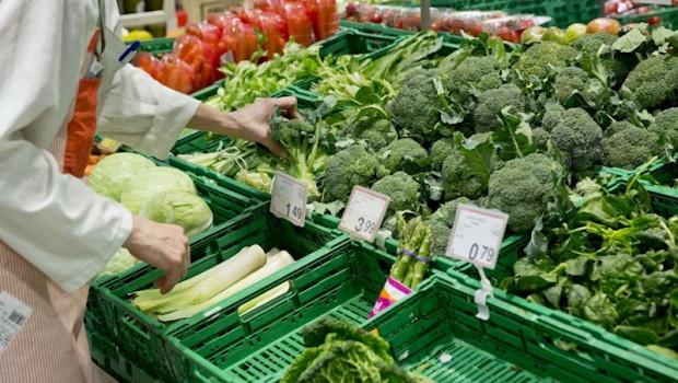 ep cajas de plastico con verduras de supermercados