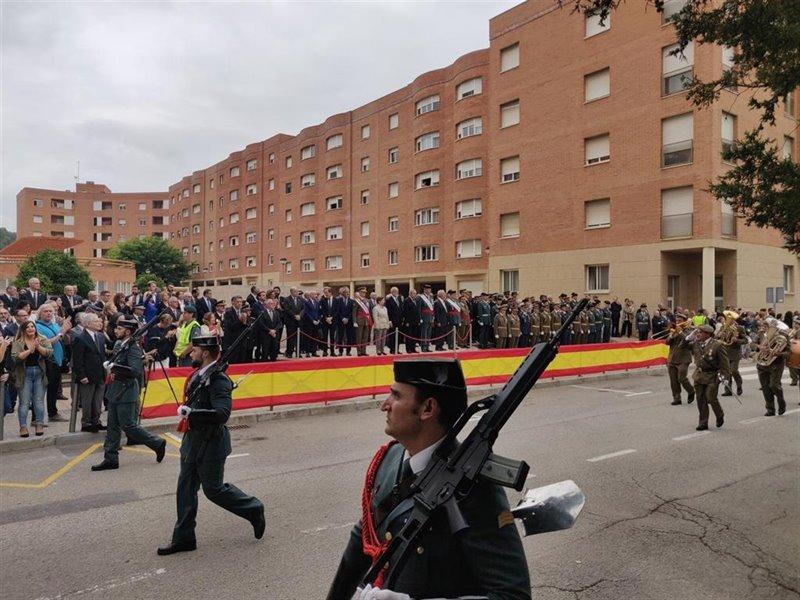 ep desfile por el dia de la patrona de la guardia civil en catalunya