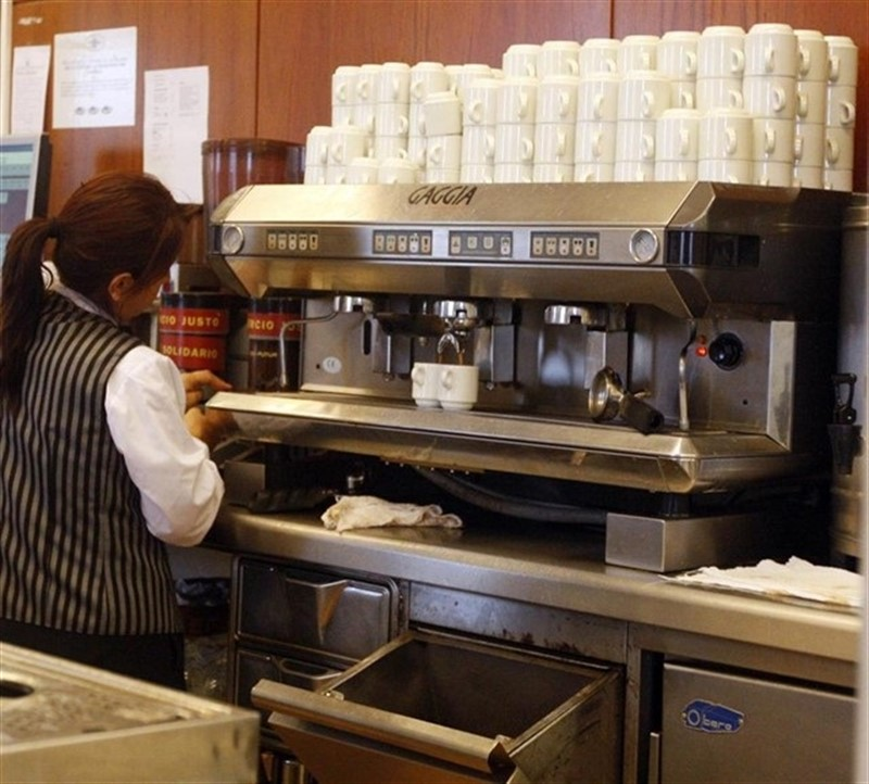 ep foto de archivo de una empleada del sector servicios