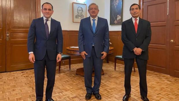 ep archivo   el secretario de hacienda arturo herrera el presidente de mexico andres manuel lopez