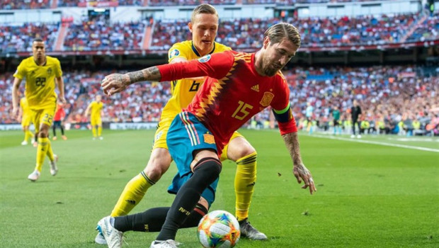 ep uefa euro 2020 qualifier - spain vs sweden