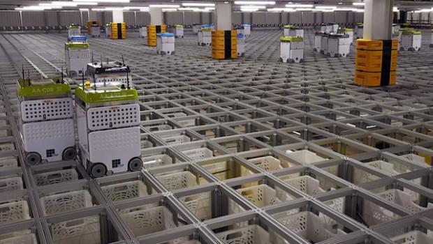 ocado cfc warehouse robots