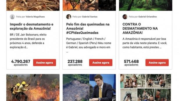 ep imagen sobre las peticiones del amazonas en changeorg