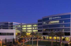 ep logo de la empresa marvell technologies en sus oficinas