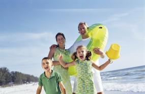 Holiidays, tourism, family, children, tour, beach