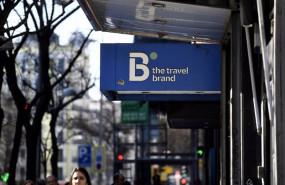 ep logo de la agencia de viajes b the travel brand