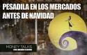 careta money talks pesadilla navidad