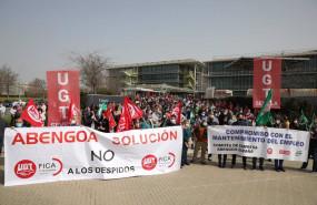 ep manifestacion en palmas altas de los trabajadores de abengoa